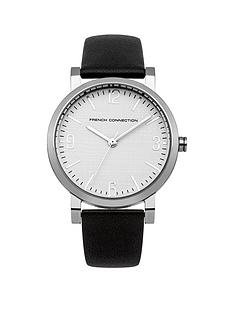 french-connection-catherine-white-dial-with-black-leather-strap-ladies-watch
