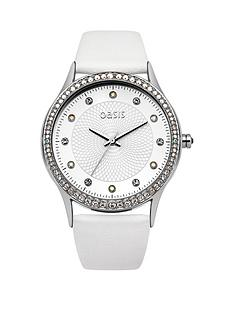 oasis-white-dial-with-crystals-white-pu-strap-ladies-watch