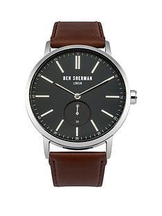 ben-sherman-ben-sherman-big-portobello-blue-dial-social-brown-leather-strap-mens-watch