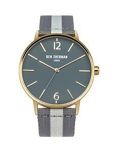 ben-sherman-ben-sherman-portobello-grey-dial-stripe-grey-nylon-strap-mens-watch