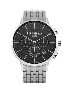 ben-sherman-ben-sherman-portobello-professional-multi-function-black-dial-stainless-steel-bracelet-mens-watch