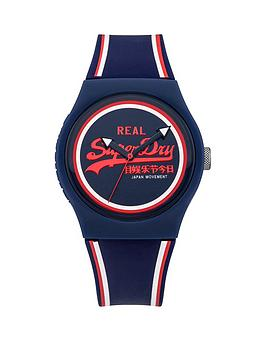 Superdry Urban Navy Blue Dial With Retro Navy Silicone Strap Unisex Watch