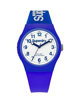 Superdry Urban White Dial With Blue Silicone Strap Unisex Watch
