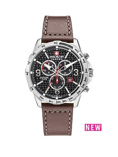 swiss-military-chronograph-black-dial-ace-brown-leather-strap-mens-watch