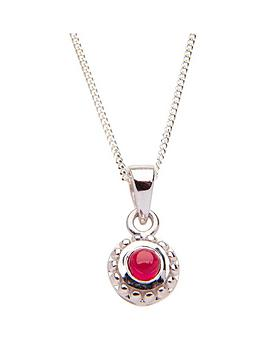 The Love Silver Collection The Birthstone Collection Real Gemstone Sterling Silver Rhodium Plated 4m