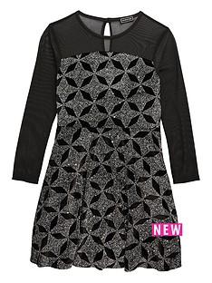 freespirit-long-sleeve-sparkle-dress-with-power-mesh