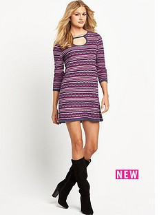 south-pattern-knit-keyhole-dress