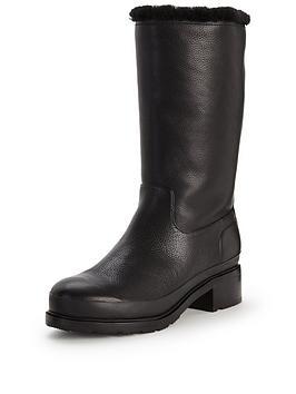 hunter-original-shearling-lined-leather-bootnbsp