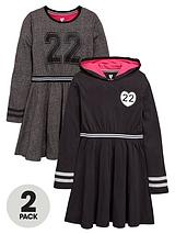 Girls Fashion Basics Sporty Dresses (2 Pack)