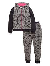 Girls Fashion Basics Printed Tracksuit