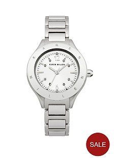 karen-millen-silver-stone-set-dial-silver-tone-stainless-steel-bracelet-ladies-watch