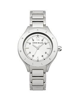 karen-millen-silver-stone-set-dial-silver-tone-stainless-steel-bracelet-ladies-watch