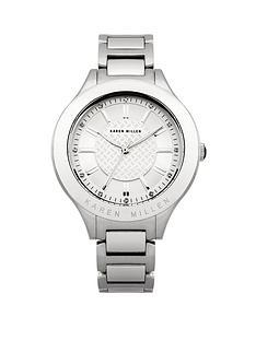 karen-millen-silver-stone-set-dial-silver-tone-bracelet-ladies-watch