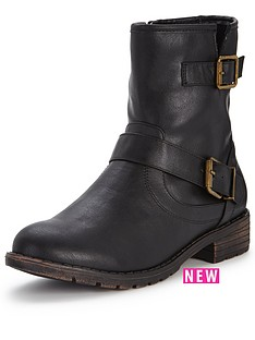 shoe-box-gordon-casual-flat-buckle-ankle-boot-black
