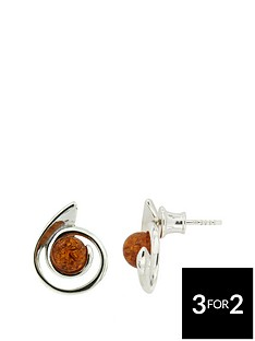 the-love-silver-collection-sterling-silver-amber-swirl-earrings