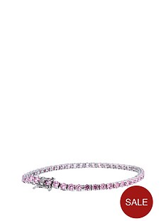 the-love-silver-collection-sterling-silver-pink-cubic-zirconia-tennis-bracelet