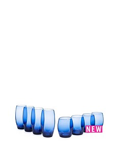 blue-tumblers-amp-highball-glasses-set-of-of-8