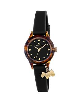 radley-watch-it-tortoise-dial-with-dog-charm-black-silicone-strap-ladies-watch