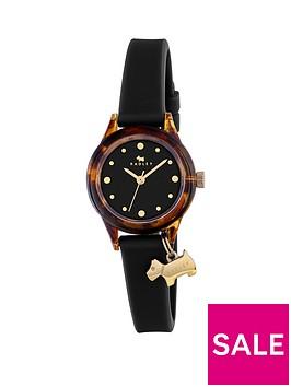 radley-watch-it-tortoise-dial-with-dog-charm-black-silicone-strap-ladies-watch