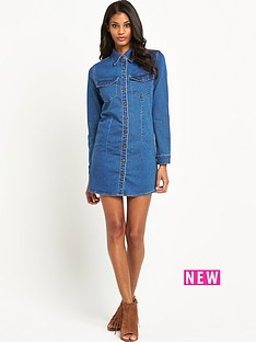 glamorous-button-up-denim-dress