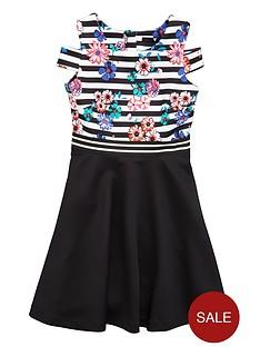 v-by-very-girls-cut-out-shoulder-skater-dress
