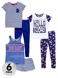 v-by-very-girls-floral-and-stripe-pyjamas-set-6-piece