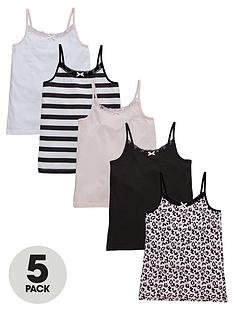 v-by-very-girls-leopard-vests-5-pack