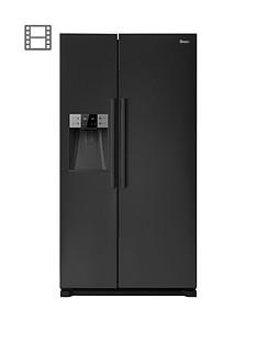 Swan SR13020B Plumbed American-Style Fridge Freezer - Black