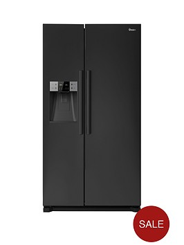 swan-sr13020b-plumbed-american-style-fridge-freezer-black