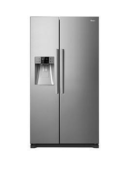 swan-sr13010s-non-plumbed-american-style-fridge-freezernbsp--silver