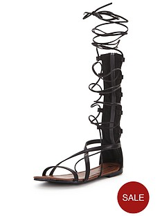 v-by-very-delphynbspknee-high-lace-up-gladiator-flat-sandals