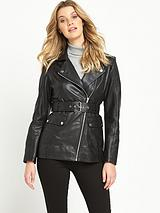 Premium 3/4 Length Leather Jacket