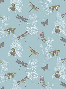 arthouse-enchanted-wings-teal-wallpaper
