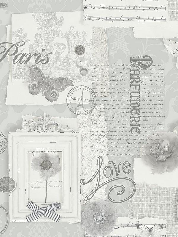 ARTHOUSE FELICITY PARIS WALLPAPER SOFT PINK GREY /& NATURAL FEATURE WALL