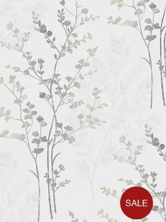 arthouse-fern-motif-silver-wallpaper
