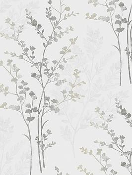 arthouse-fern-motif-silver-wallpaper