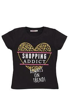 freespirit-girls-shopping-addict-glitter-slogan-t-shirt