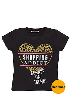 freespirit-girls-shopping-addict-glitter-slogan-t-shirt