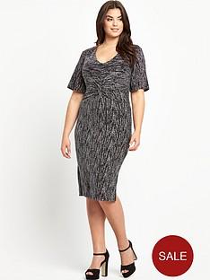 so-fabulous-plus-size-glitter-twist-front-midi-dress-14-28