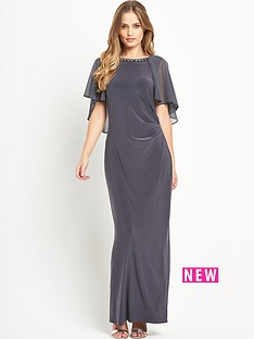 wallis-cape-backnbspembellished-maxi-dress