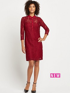 wallis-wallis-lace-shirt-dress