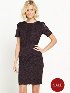 warehouse-panelled-short-sleeve-lace-dress