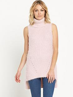 miss-selfridge-eyelash-sleeveless-jumpernbsp