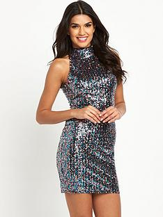 tfnc-tfnc-paris-multi-sequin-high-neck-bodycon-dress