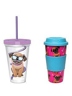 pug-travel-mug-amp-straw-cup-twin-set