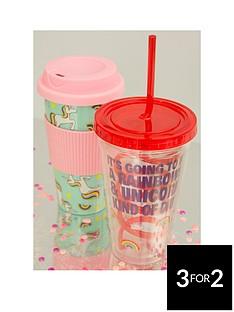 unicorn-travel-mug-amp-straw-cup-twin-set