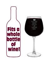 Personalised Large Keep Calm Wine Glass