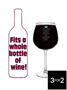 personalised-large-keep-calm-wine-glass