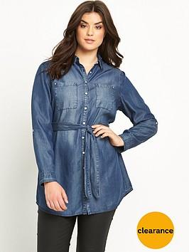 so-fabulous-longline-belted-denim-shirt