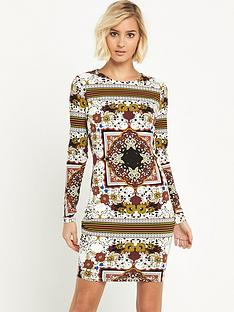river-island-printed-bodycon-dress